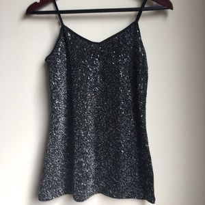 Express Tops - Express XS Camisole Top, Sequined.
